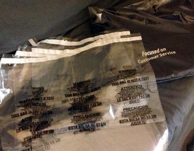 Lip and Tape Plastic Bag
